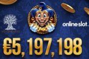 Сорван джекпот 5.19 млн. евро  на игровом автомате Empire Fortune