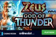 Гром и молнии: стартует игровой автомат Zeus God of Thunder Blasts